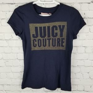 JUICY COUTURE | spellout graphic embellished tee